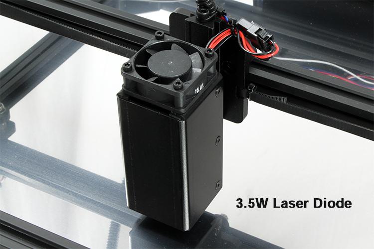 レーザー加工機(カッター)用3.5Wレーザーヘッド