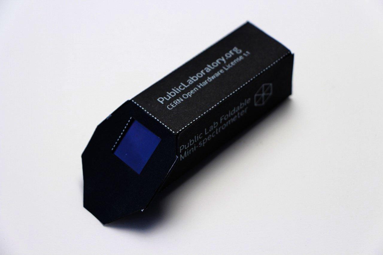 組み立て式ミニ分光器キット 測定編