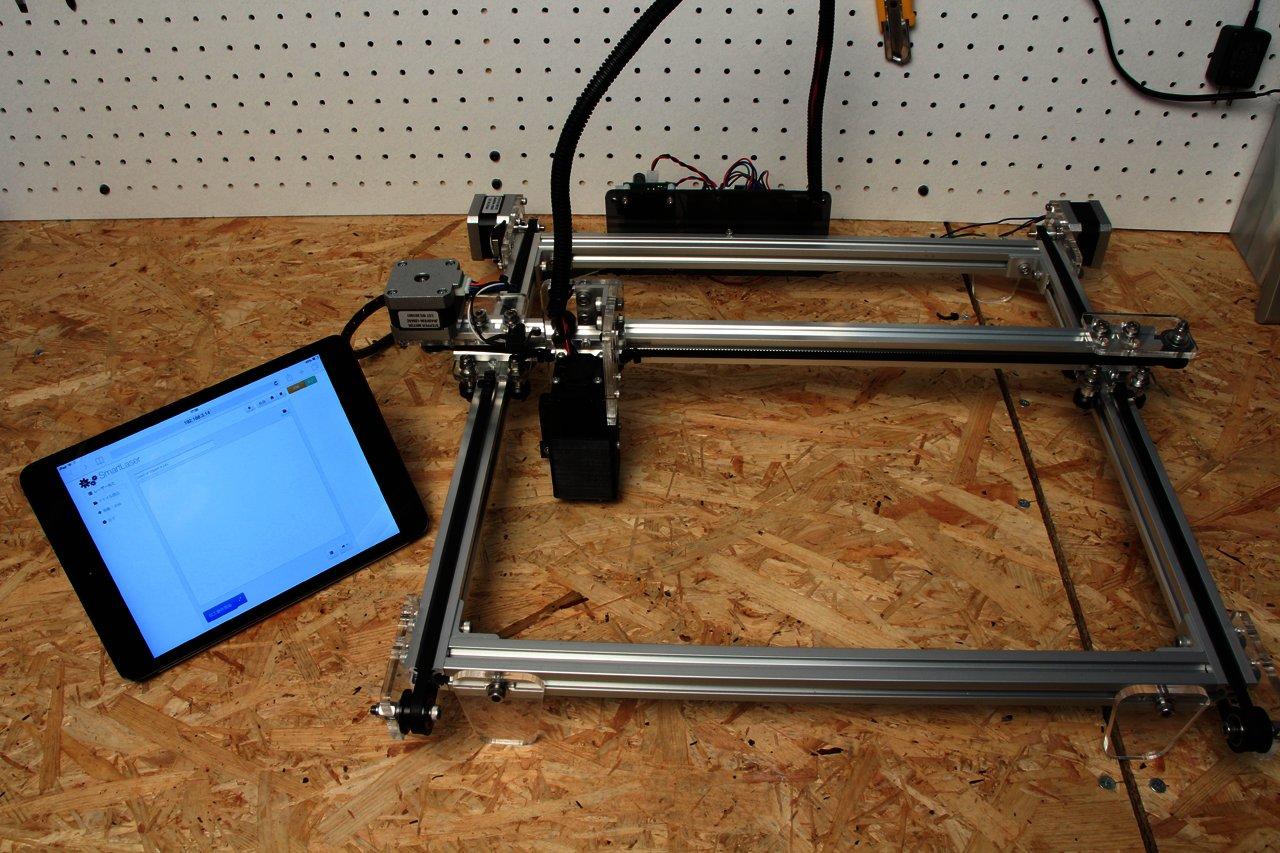 iPadとRaspberry Piでレーザー加工機(カッター)の画像