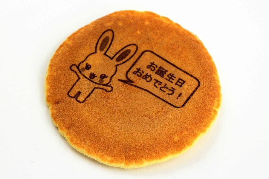 パンケーキに絵を刻印