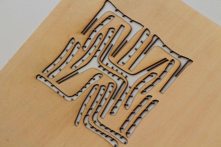 シナベニヤ 1.1mmでミニ椅子を製作の画像