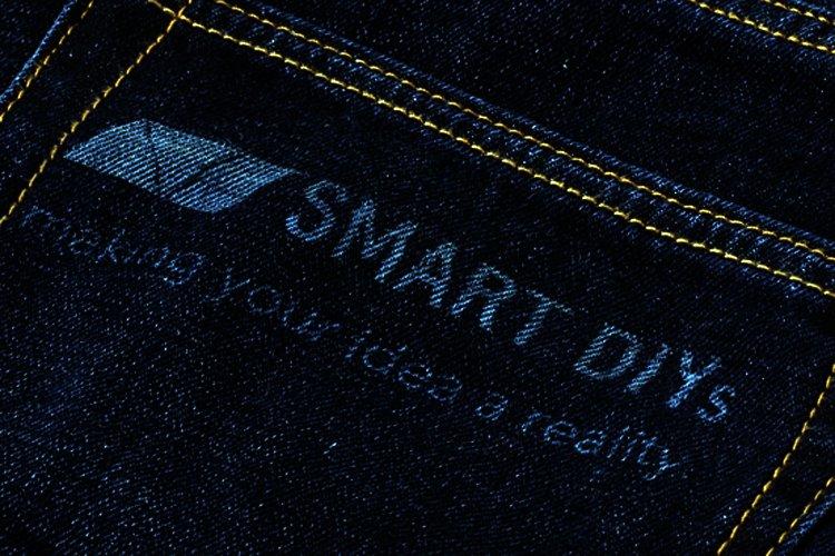 laser engraving on jeans