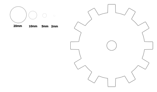 ゴム・ラバーコルクをレーザー加工機でカット・刻印しました!の画像