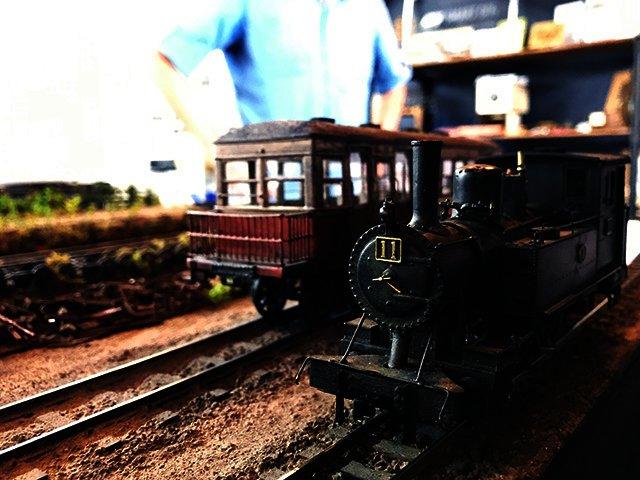 昭和30年代の秋田県の鉄道を再現しています