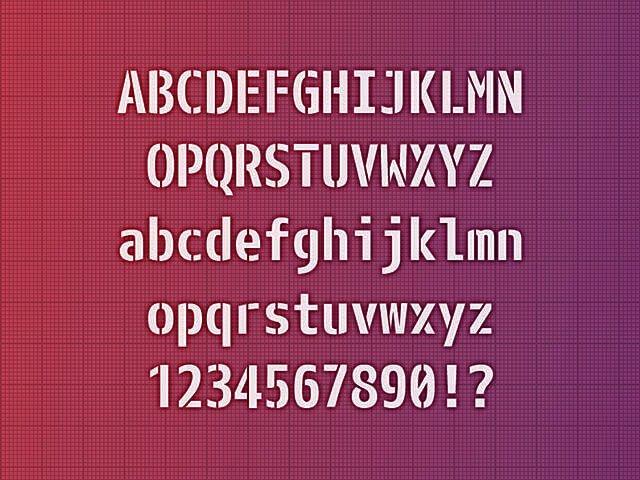 レーザーカッターで特殊フォントを使用した文字の切り抜きの画像