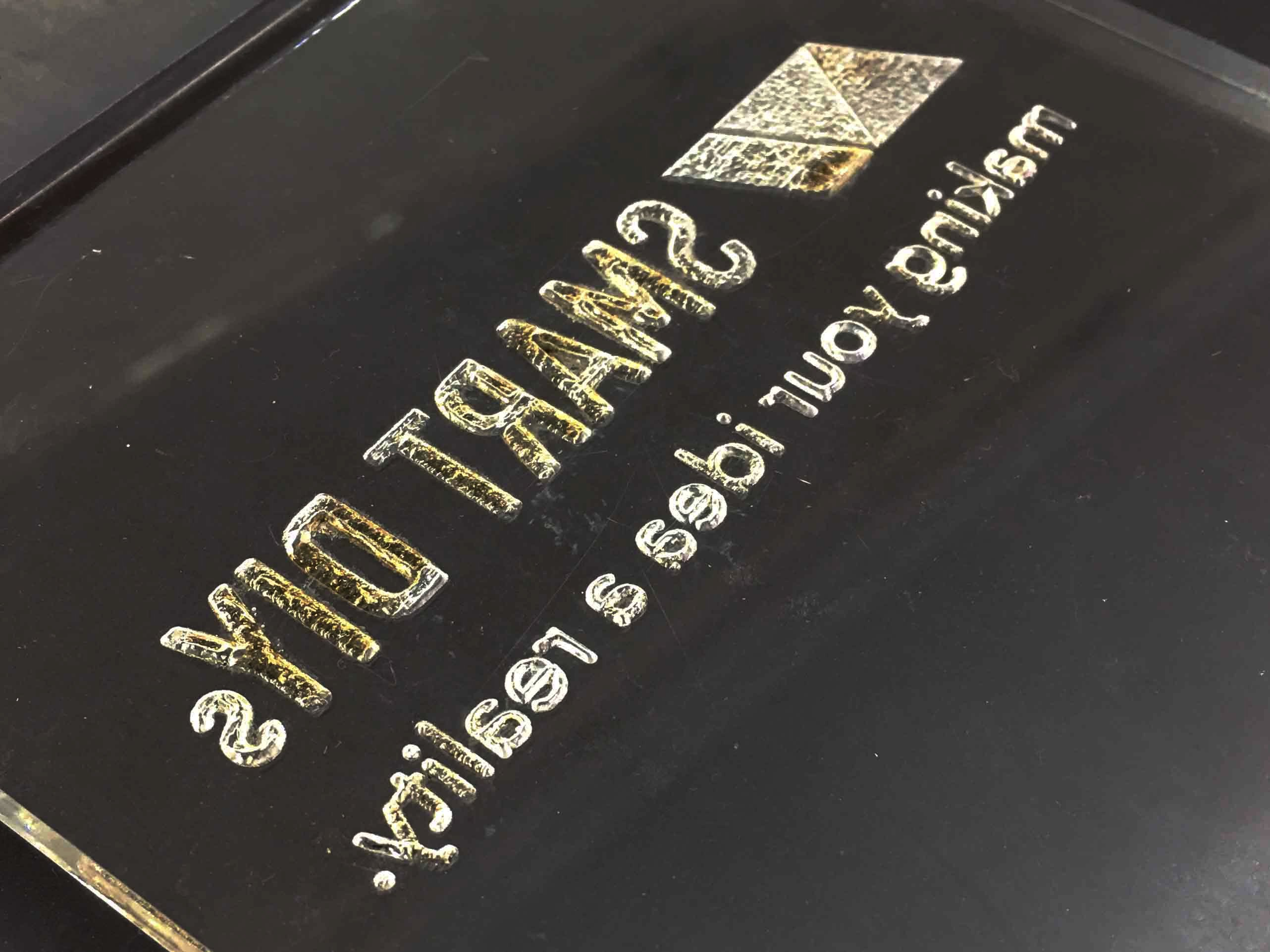 アクリル板で表札作りーベクター加工VSラスター加工ーの画像