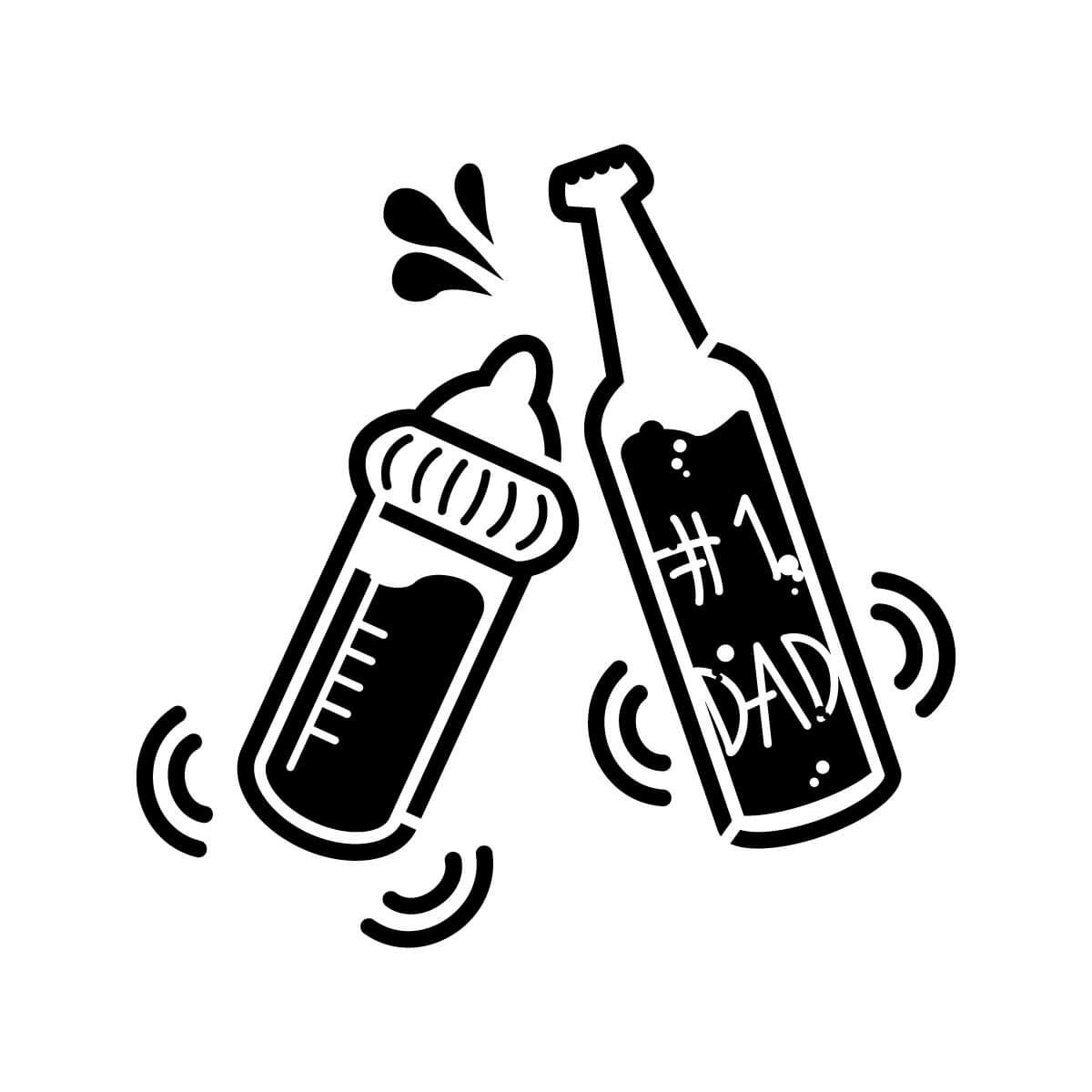 ビール瓶と哺乳瓶