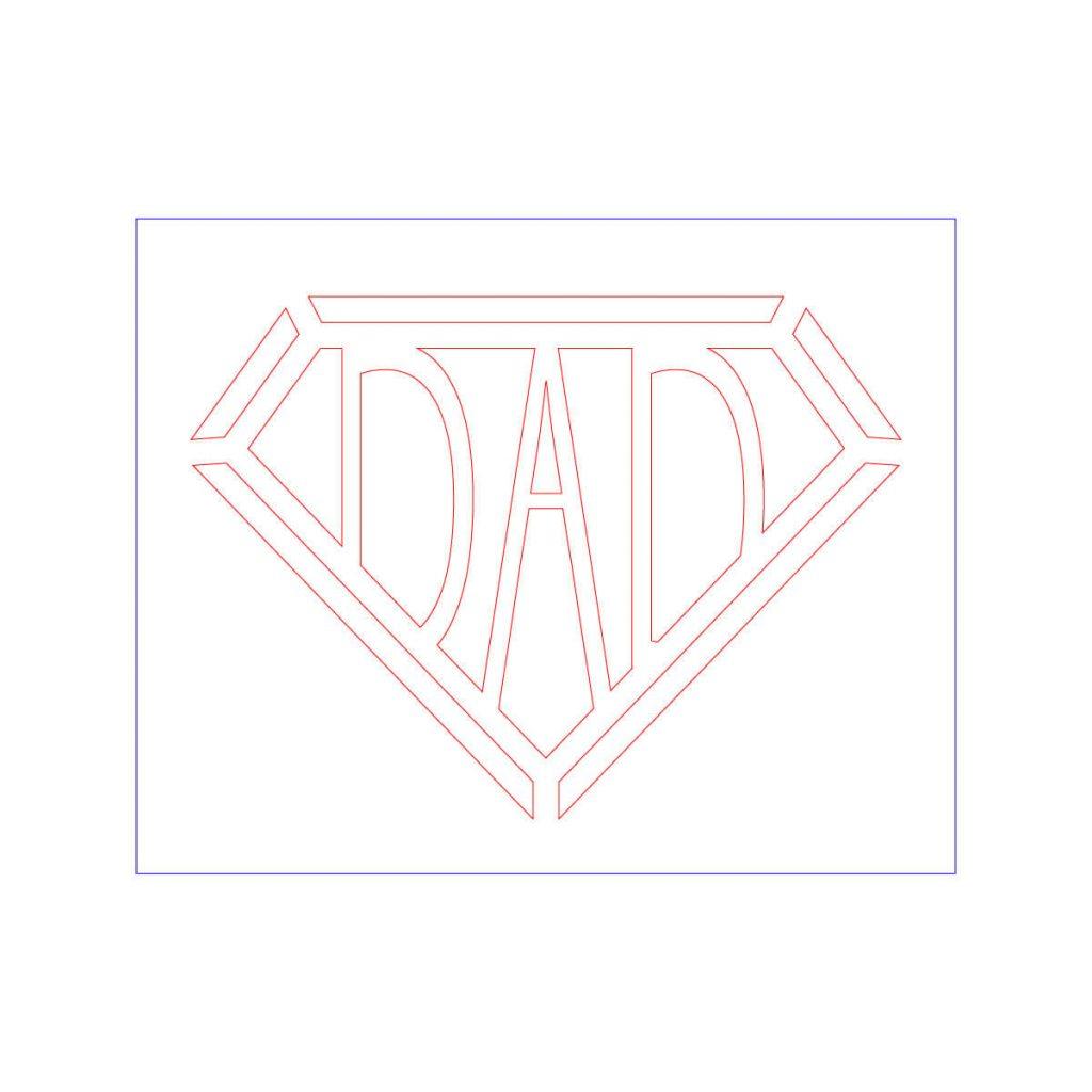 Dadマーク(ステンシル)1