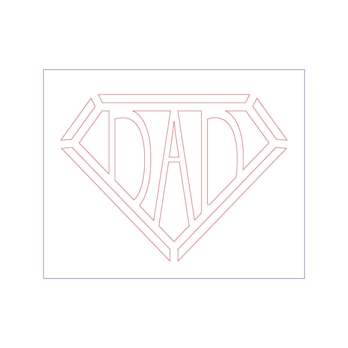 Dadマーク(ステンシル)