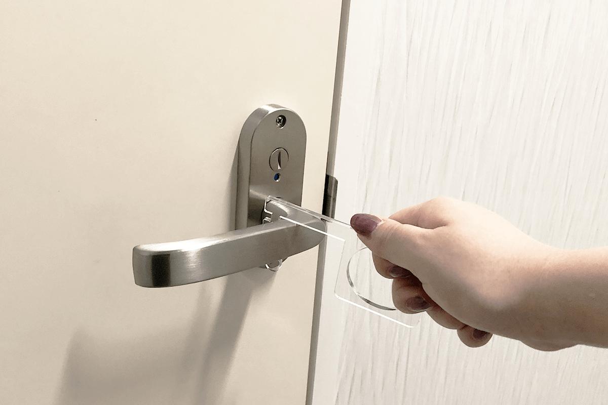 ドアオープナー使用例