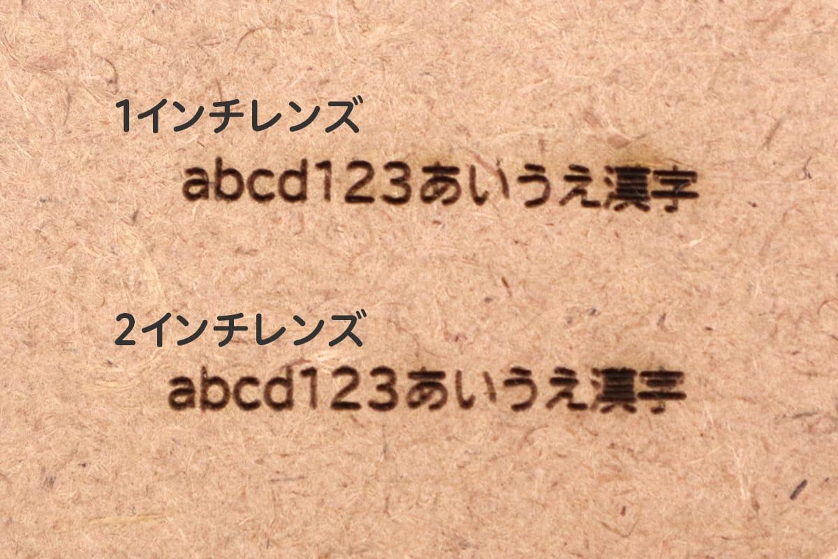 文字における1インチと2インチの違い