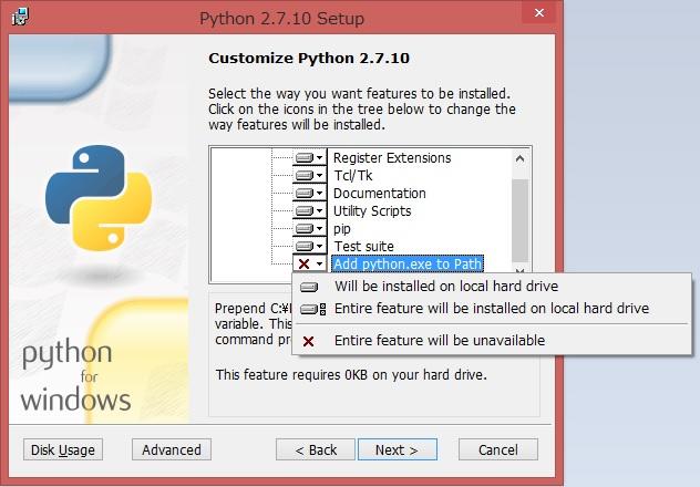 Add python.exe to Path