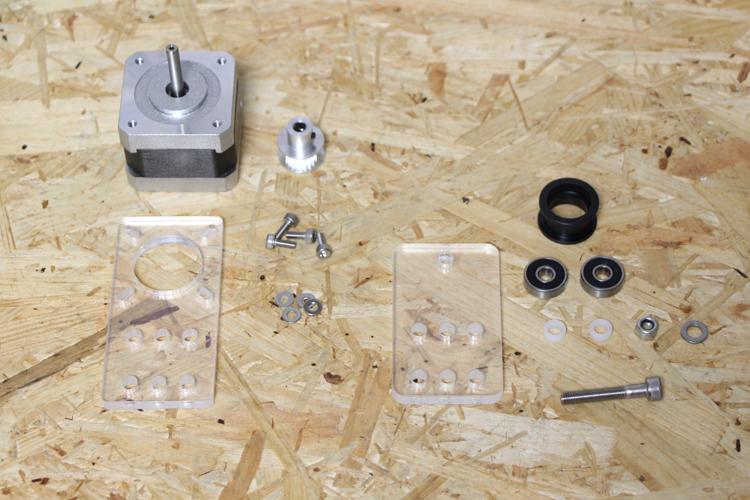 モーターユニット組み立て部品
