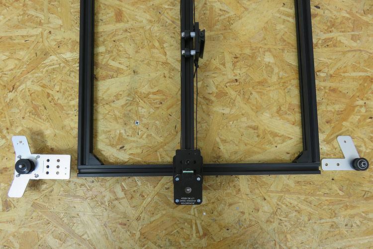 Y軸モーターユニット・idler pulley plateを取り付け