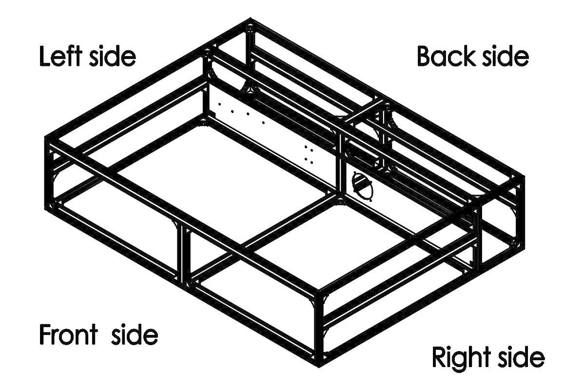 本体フレーム組立 中段部分 完成図2