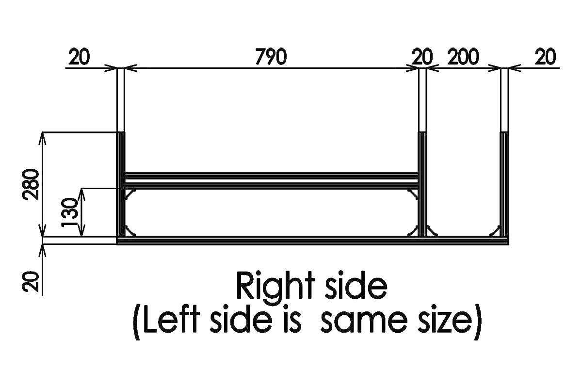 本体フレーム組立 中段部分 右側